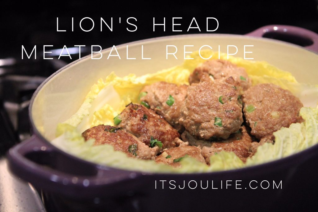 Lions head meatballs chinese food recipe its jou life forumfinder Gallery